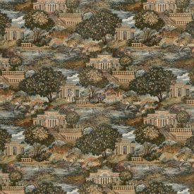 Жаккардовая ткань, гобелен Парковый пейзаж