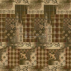 Жаккардовая ткань, гобелен Клетка лилия