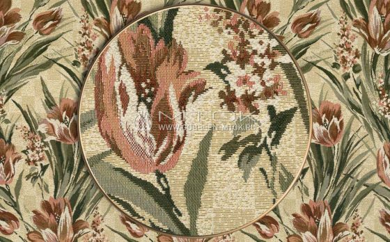 Ткань жаккардовая, гобелен Тюльпаны