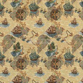 Гобелен, ткань жаккардовая Кораблики