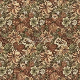 Жаккардовая ткань, гобелен Лилии модерн