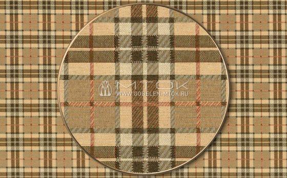 Ткань жаккардовая, гобелен Шотландка