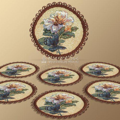 Комплект салфеток из гобелена Вальс цветов