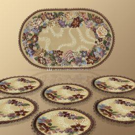 Комплект салфеток из гобелена Гирлянда (большой)