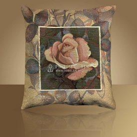 Декоративная наволочка, чехол из гобелена Роза в квадрате