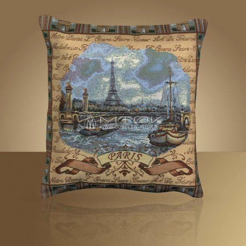 Декоративная наволочка, чехол из гобелена Париж