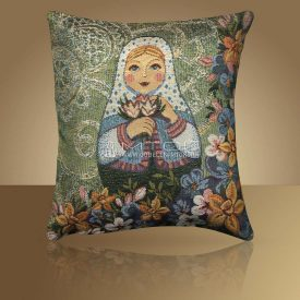 Декоративная наволочка, чехол из гобелена Матрешка-Весна