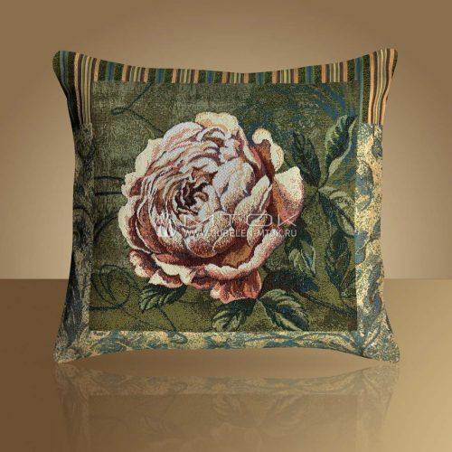 Декоративная наволочка, чехол из гобелена Пионовидная роза