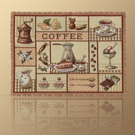 Салфетка из гобелена Кофейная