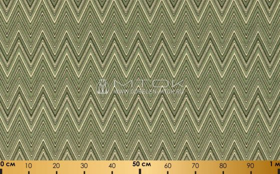 Гобелен, жаккардовая ткань Зигзаг зеленый