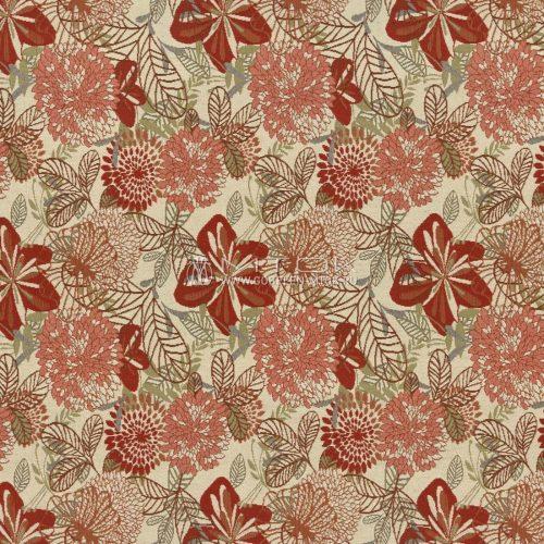 Ткань жаккардовая, гобелен Вектор цветы