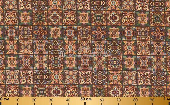 Ткань жаккардовая, гобелен Цветочная мозаика