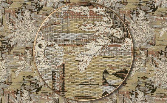 Жаккардовая ткань, гобелен Кристаллы