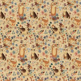 Жаккардовая ткань, гобелен Задорные котята