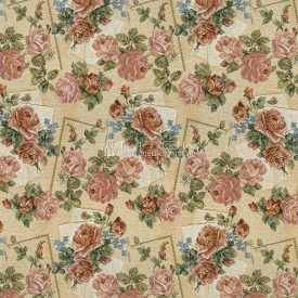 Жаккардовая ткань, гобелен Нежные розы