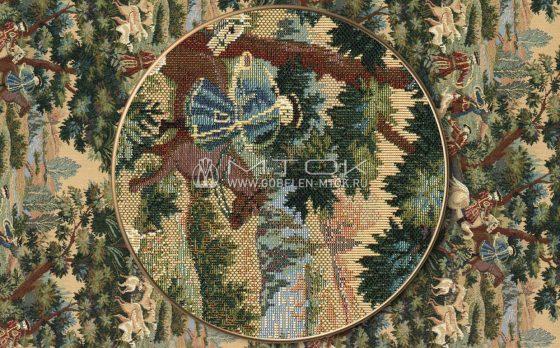 Ткань жаккардовая, гобелен Королевская охота