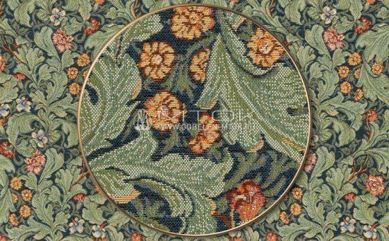 Жаккардовая ткань, гобелен Диантус