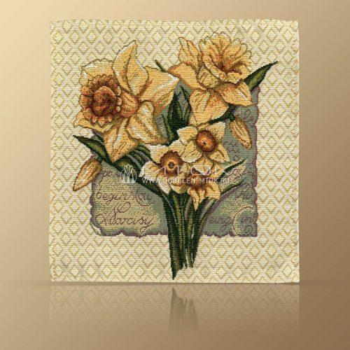Салфетка из гобелена Нарциссы белые