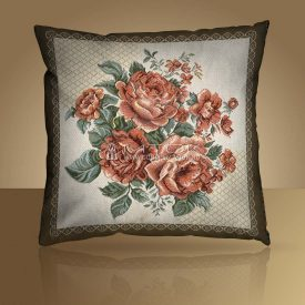 Декоративная наволочка, чехол на подушку Розы белые