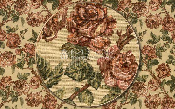 """Раппорт: Ткань жаккардовая """"Старинные розы"""""""