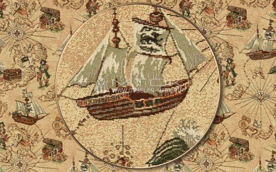 Ткань жаккардовая, гобелен Пираты