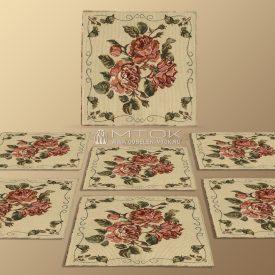 Салфетки из гобелена, комплект Старинные розы