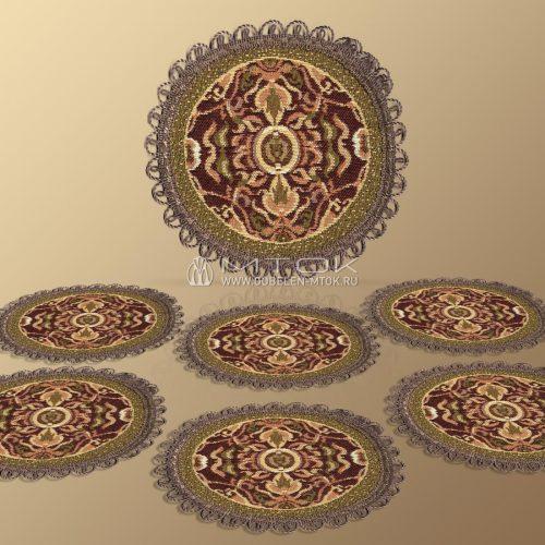 Комплект салфеток из гобелена Византия