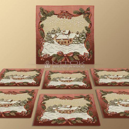 Комплект салфеток из гобелена Зимняя сказка
