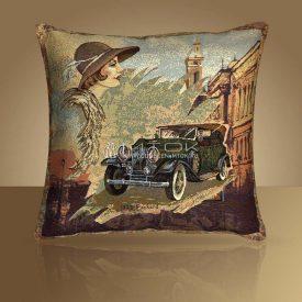 Декоративная наволочка, чехол из гобелена Авто 1933