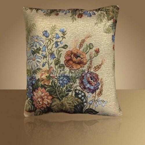Декоративная наволочка, чехол из гобелена Первоцветы