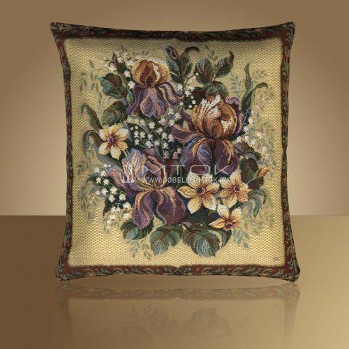 Декоративная наволочка, чехол из гобелена Весенний букет