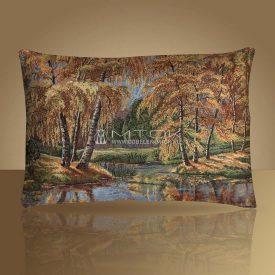 "Чехол на подушку ""Осеннее озеро"""
