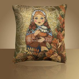 Декоративная наволочка, чехол из гобелена Матрешка-Осень