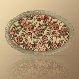 Салфетка из гобелена декоративная с бахромой