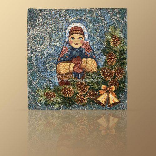 Салфетка из гобелена Матрешка-Зима