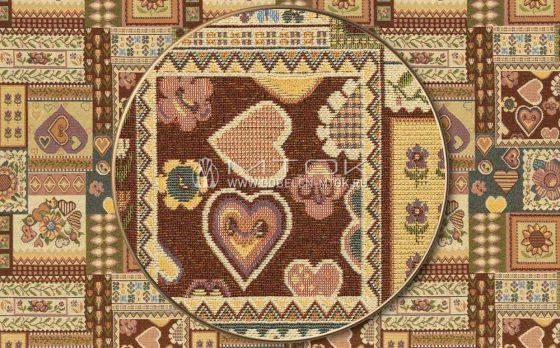 Гобелен, жаккардовая ткань Испанские сердечки