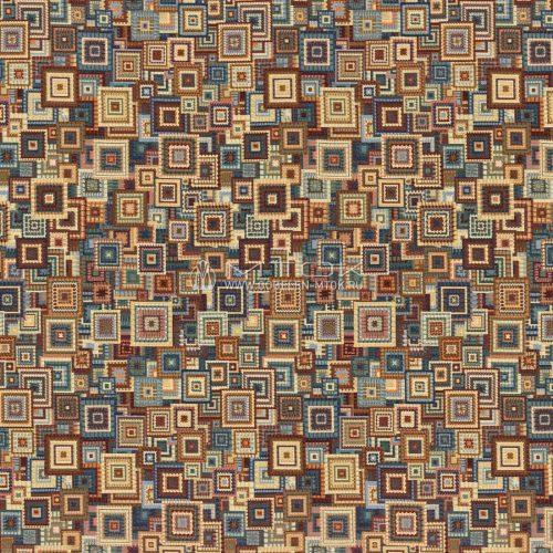 Жаккардовая ткань, гобелен Геометрический коллаж