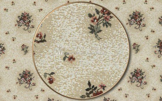 Жаккардовая ткань, гобелен Букет на светлом фоне