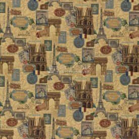 Ткань жаккардовая, гобелен Париж