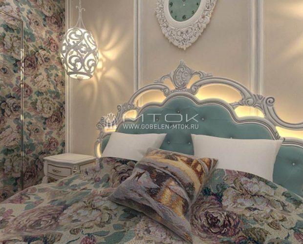Гобеленовое покрывало для кровати в спальне