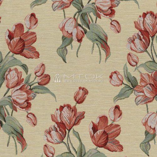 Ткань жаккардовая, гобелен Флора: Песни весны