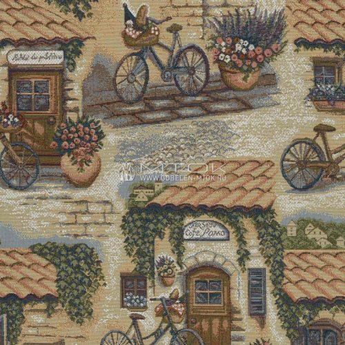 Ткань жаккардовая, гобелен Велосипеды