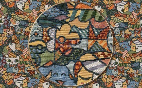 Жаккардовая ткань, гобелен Пикассо
