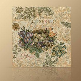 Комплект салфеток из гобелена Весенний сад