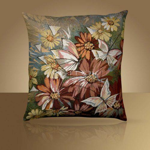 Декоративная наволочка, чехол на подушку Бабочки белые