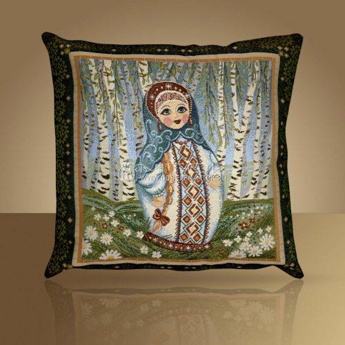 Декоративная наволочка, чехол на подушку Матрешка