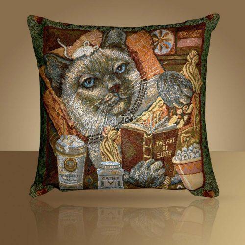 Декоративная наволочка, чехол на подушку Королевский кот