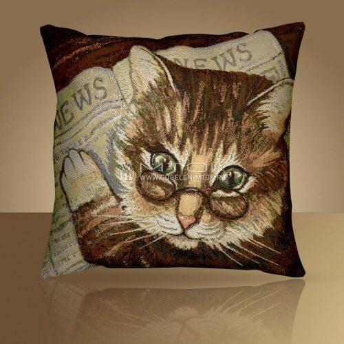 Декоративная наволочка, чехол на подушку Кот ученый