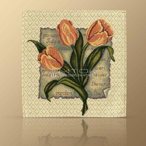 Салфетка из гобелена Тюльпаны красные