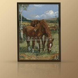 """Картина из гобелена """"Лошади"""""""